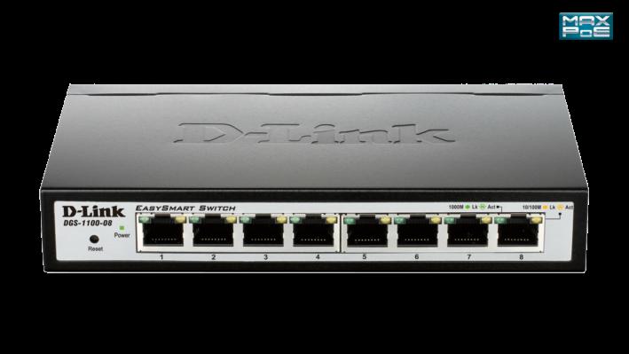 DGS-1100-08P D-Link 8-portni gigabit upravljivi PoE switch